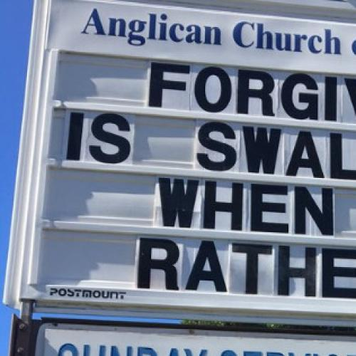 Goldie Anglican Church Sign Makes 'Innocent' Gaffe