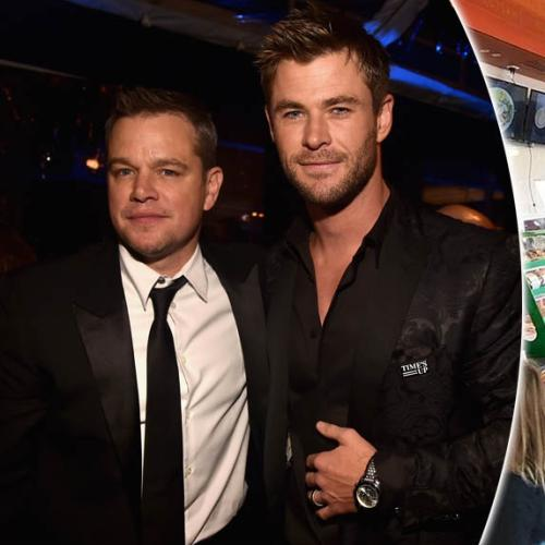 Chris Hemsworth And Matt Damon Spotted At Aussie Servo