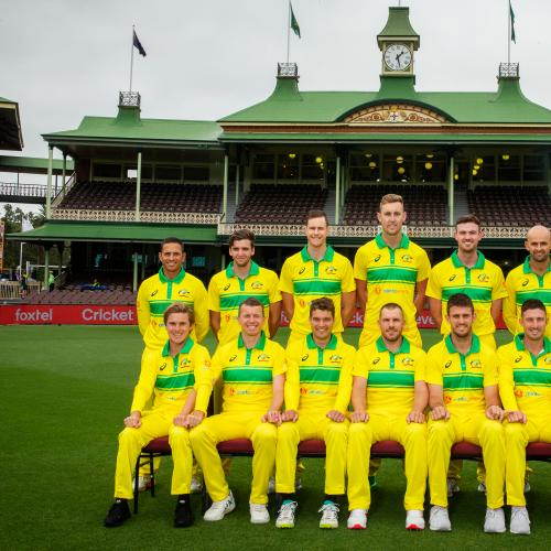 Aussie cricket team's sneaky hand-holding pic