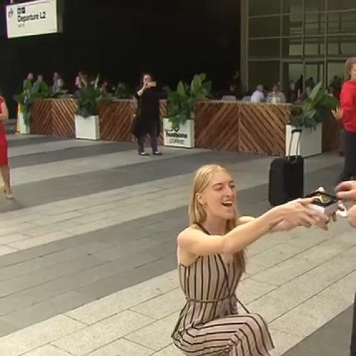 Adelaide's flash mob marriage proposal with a difference