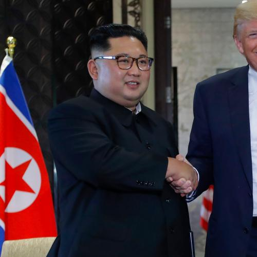 Donald Trump And Kim Jong-Un Sign Document Following Meeting