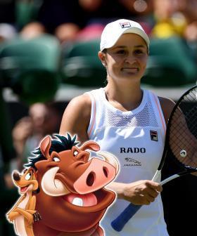 Ash Barty Keeps Making Disney References At Wimbledon