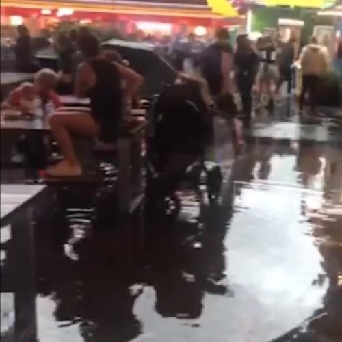 Last Night's Storm Caused Flooding at Eat Street