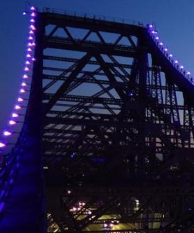 Brisbane's Story Bridge lit Blue for National Diabetes Week