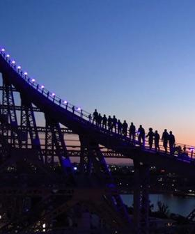 Climate Activist Suspended From Brisbane's Story Bridge