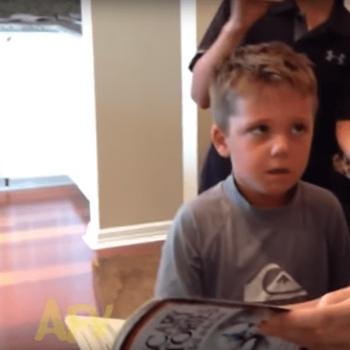 Young Boy Reacts To Scary Story In Hilarious Way