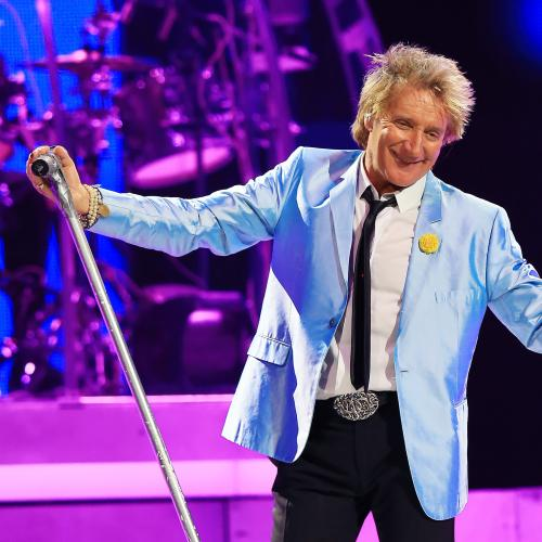 Rod Stewart receives knighthood from Queen