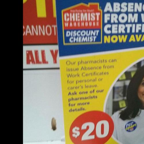 Aussie Pharmacy Selling 'Sick Notes' For $20
