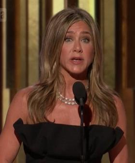 Jennifer Aniston Reads Out Russell Crowe's Emotional Acceptance Speech At The 2020 Golden Globes