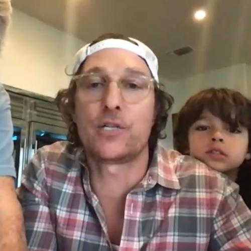 Matthew McConaughey Hosts Online Bingo Night For Isolating Elderly Folks And The Video Is Awesome!