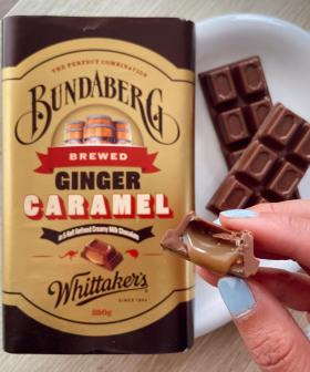 Chocolate Gods Whittakers Are Releasing A Caramel & Ginger Beer Block With Bundaberg!