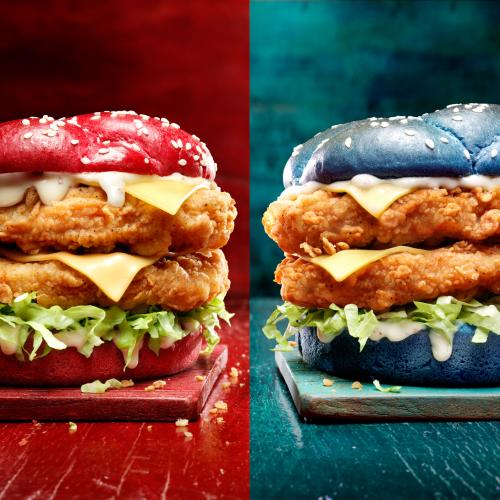 KFC's Releasing Colourful State Of Origin Burgers