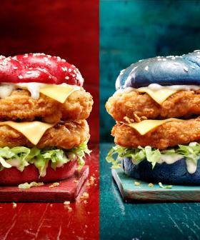 KFC's Releasing Colourful State Of Origin Burgers