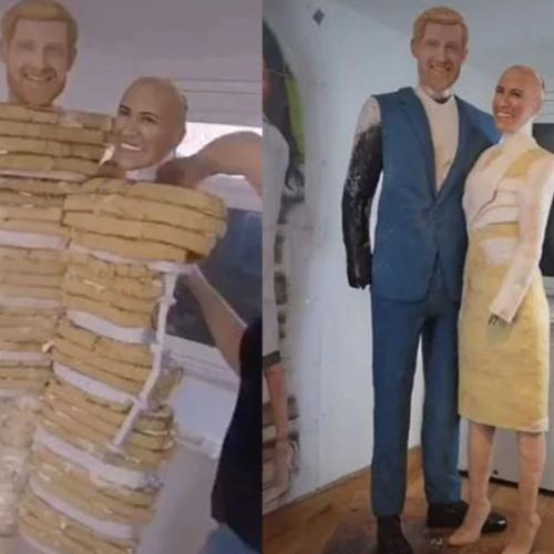Royal Fan Requests Life-Size Custom Cake Of Prince Harry And Meghan Markle