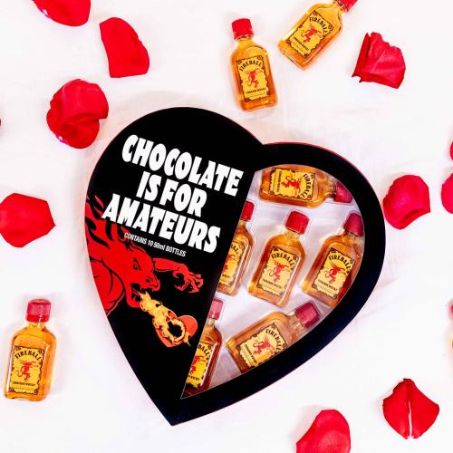 Fireball Whisky Are Doing Valentine's Hearts If Your Girl Likes Something Harder Than Chocolate!
