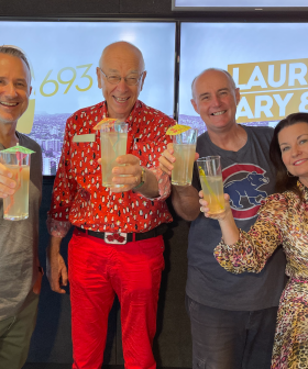 """""""A Year In The Making"""" - Laurel, Gary & Mark Surprise Dr Karl Kruszelnicki"""