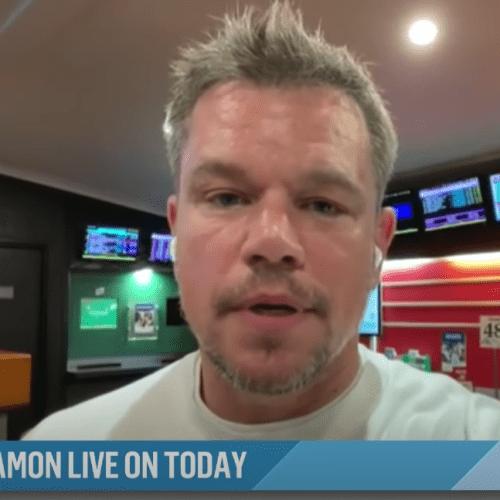 Matt Damon Does Live Interview From A TAB Like A True Blue Aussie