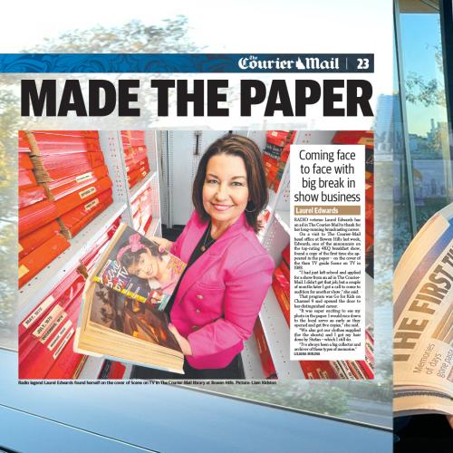 Did You Notice A Familiar Face In Today's Issues Of The Courier-Mail? Loz Explains Why!
