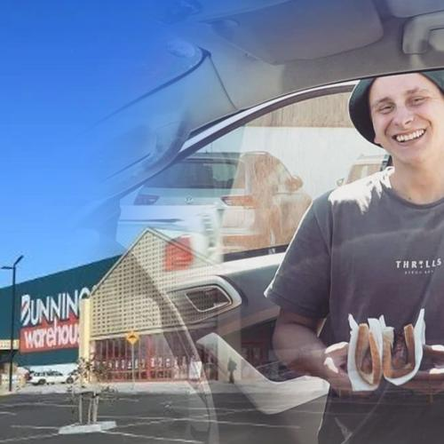 The Aussie Legend Who Is Eating A Snag From Every Bunnings In Australia Arrives in Brisbane!