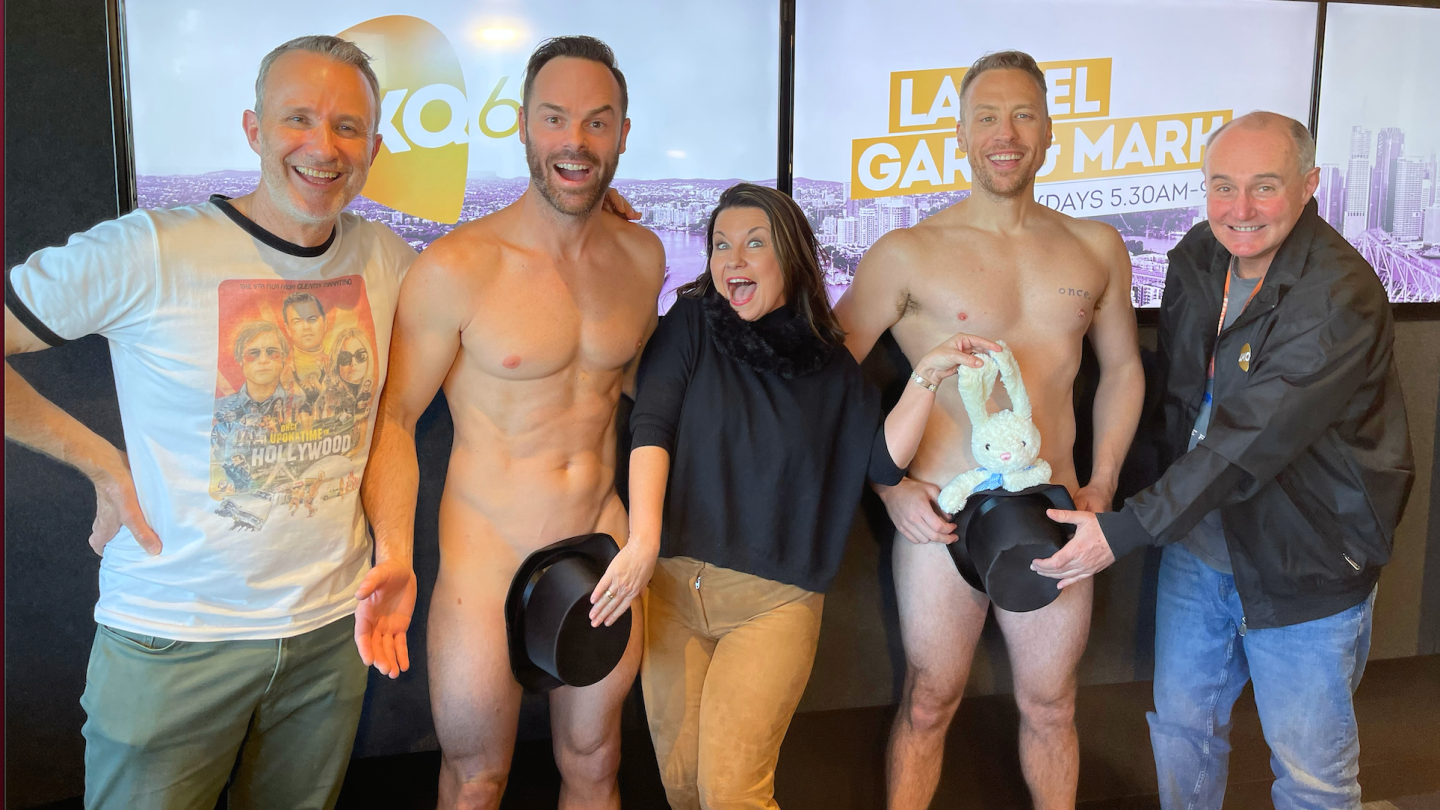 Laurel, Gary & Mark Recieve A Surprise Visit From The Naked Magicians!