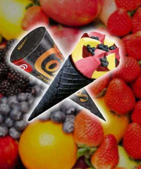 Streets Have Just Released A New Fruity Cornetto Flavour In A Black Cocoa Wafer Cone!