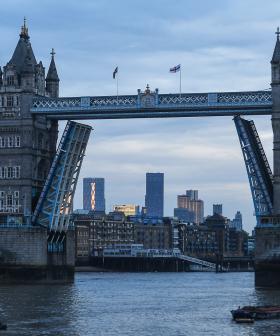 London's Famous Tower Bridge Is Stuck Open!