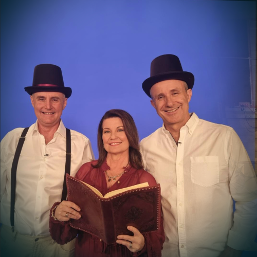 Here's An Exclusive Behind The Scenes Look At Laurel, Gary & Mark As They Film At Channel 7!