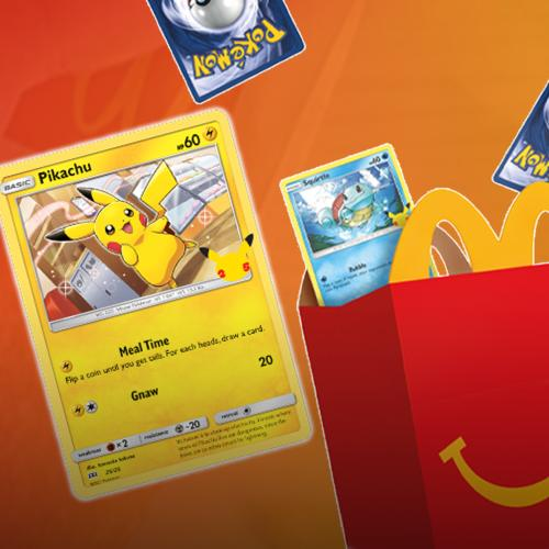 You Can Now Get Pokémon Trading Cards With Your McDonald's Happy Meal!